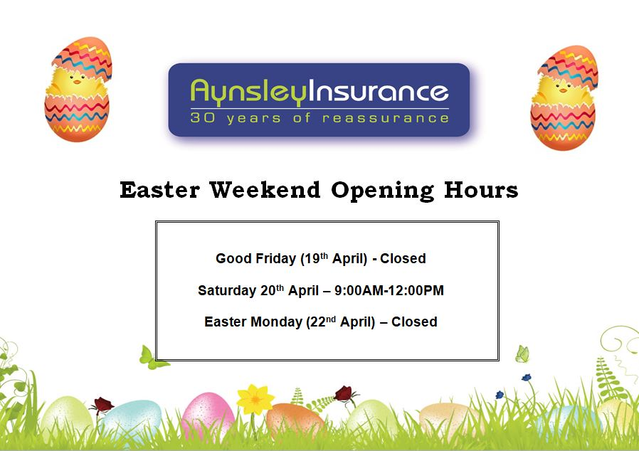 Easter Weekend Opening Hours 2019